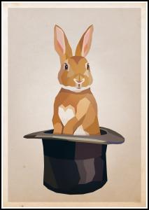 Bildverkstad Rabbit in hat