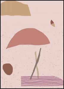 Bildverkstad Abstract Art - Pink Poster