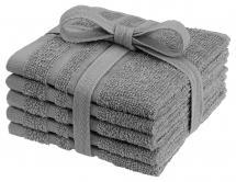 Borganäs of Sweden Waschtuch Basic Frottee - Grau 25x25 cm 5er-Pack