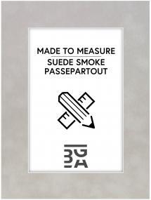 Egen tillverkning - Passepartouter Passepartout Suede Smoke - Maßanfertigung (Weißer Kern)