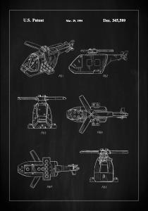 Bildverkstad Patent Print - Lego Helicopter - Black
