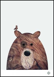 Paperago Wood bear Poster