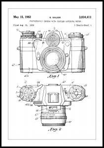 Lagervaror egen produktion Patentzeichnung - Kamera I Poster