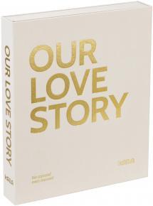 KAILA KAILA OUR LOVE STORY Creme - Coffee Table Photo Album (60 Schwarze Seiten)