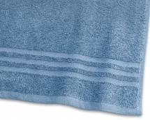 Borganäs of Sweden Badetuch Basic Frottee - Mittelblau 65x130 cm