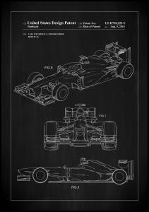Bildverkstad Patent Print - Formula 1 Racing Car - Black