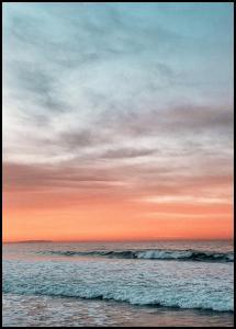 Bildverkstad Waves Under Sunset Poster