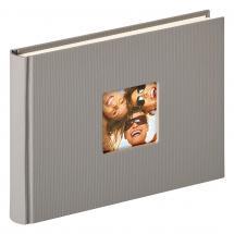 Walther Fun Design Grau - 22x16 cm (40 weiße Seiten / 20 Blatt)