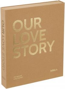 KAILA KAILA OUR LOVE STORY Manilla - Coffee Table Photo Album (60 Schwarze Seiten)