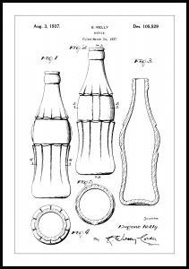 Lagervaror egen produktion Patentzeichnung - Coca-Cola-Flasche