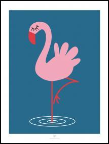 Bildverkstad Flamingo - Blue