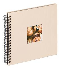 Walther Fun Spiralalbum Sand - 26x25 cm (40 schwarze Seiten / 20 Blatt)
