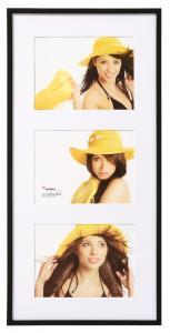 Walther New Lifestyle Collage-Rahmen Schwarz - 3 Bilder (15x20 cm)