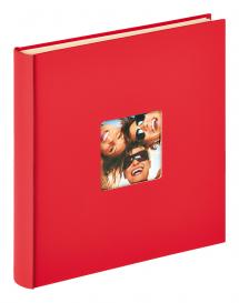 Walther Fun selbstklebend Rot - 33x34 cm (50 weiße Seiten / 25 Blatt)