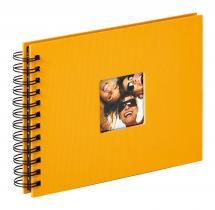 Walther Fun Spiralalbum Gelb - 23x17 cm (40 schwarze Seiten / 20 Blatt)