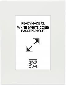 Galleri 1 - Passepartou Passepartout XL Weiß (weißer Kern) 40x50 cm (20x28,7 - A4)