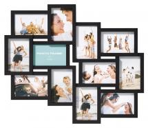 Walther Timeless Collage-Rahmen Schwarz - 12 Bilder