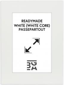 Galleri 1 Passepartout Weiß (weißer Kern) 40x60 cm (31,9x47,3 - A3+)