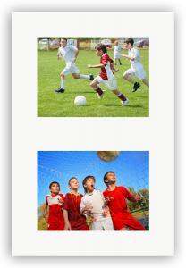 Egen tillverkning - Passepartouter Passepartout Weiß 20x25 cm - Collage 2 Bilder (9x14 cm)