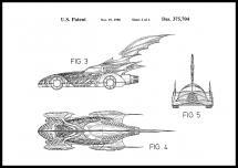 Bildverkstad Patentzeichnung - Batman - Batmobile 1996 II Poster