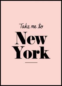 Bildverkstad Take me to New York - Pink