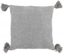 Miljögården Kissenbezug Tassle - Grau 45x45 cm