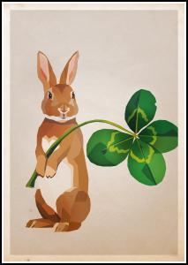 Bildverkstad Rabbit with clover