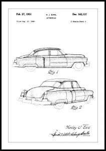 Bildverkstad Patentzeichnung - Cadillac I Poster