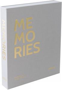 KAILA KAILA MEMORIES Grey - Coffee Table Photo Album (60 Schwarze Seiten)