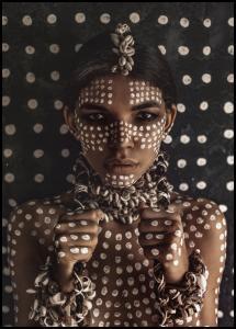 Bildverkstad Aboriginal body art I Poster