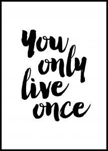 Bildverkstad You only live once Poster