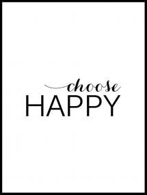 Bildverkstad Choose happy - Black