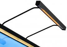 BLP BLP 117 für Rahmenbreite 65-90 cm Bildbeleuchtung - Schwarz