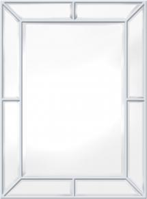 Innova Editions Spiegel Pimlico Glass Panelled Wood Misty Weiß 79x112 cm