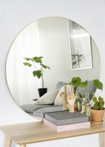 HN - KAILA KAILA Round Mirror - Thin Brass 100 cm Ø