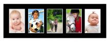 Galleri 1 Passepartout Schwarz 20x60 cm - Collage 5 Bilder (9x14 cm)