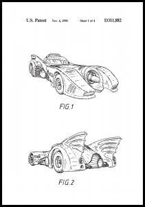 Bildverkstad Patentzeichnung - Batman - Batmobile 1990 I