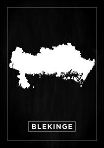 Bildverkstad Map - Blekinge - Black