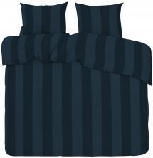Redlunds Bettwäsche-Set Big Stripe Satin Kingsize 3-teilig - Marine