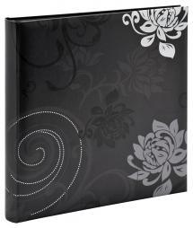 Grindy Fotoalbum Schwarz - 30x30 cm (60 schwarze Seiten / 30 Blatt)
