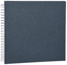Focus Base Line Canvas Wire-O Blau 30x30 cm (50 weiße Seiten / 25 Blatt)