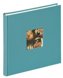 Walther Fun Album Türkis - 26x25 cm (40 weiße Seiten / 20 Blatt)