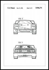 Bildverkstad Patentzeichnung - Ferrari F40 III Poster