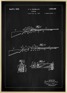 Bildverkstad Patentzeichnung - Gewehr I - Schwarz
