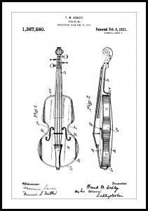 Bildverkstad Patentzeichnung - Geige Poster