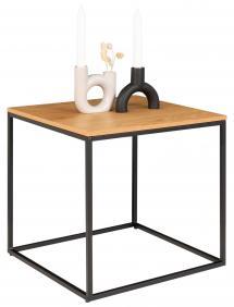 House Nordic Beistelltisch Vita 45x45 cm - Schwarz/Eiche
