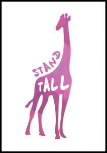 Bildverkstad Giraffe stand tall - Pink