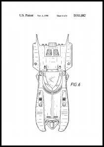Bildverkstad Patentzeichnung - Batman - Batmobile 1990 IIII Poster