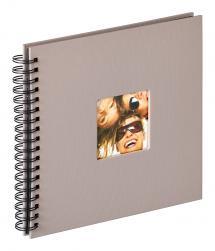 Walther Fun Spiralalbum Grau - 26x25 cm (40 schwarze Seiten / 20 Blatt)