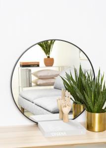 KAILA KAILA Round Mirror - Edge Black 70 cm Ø